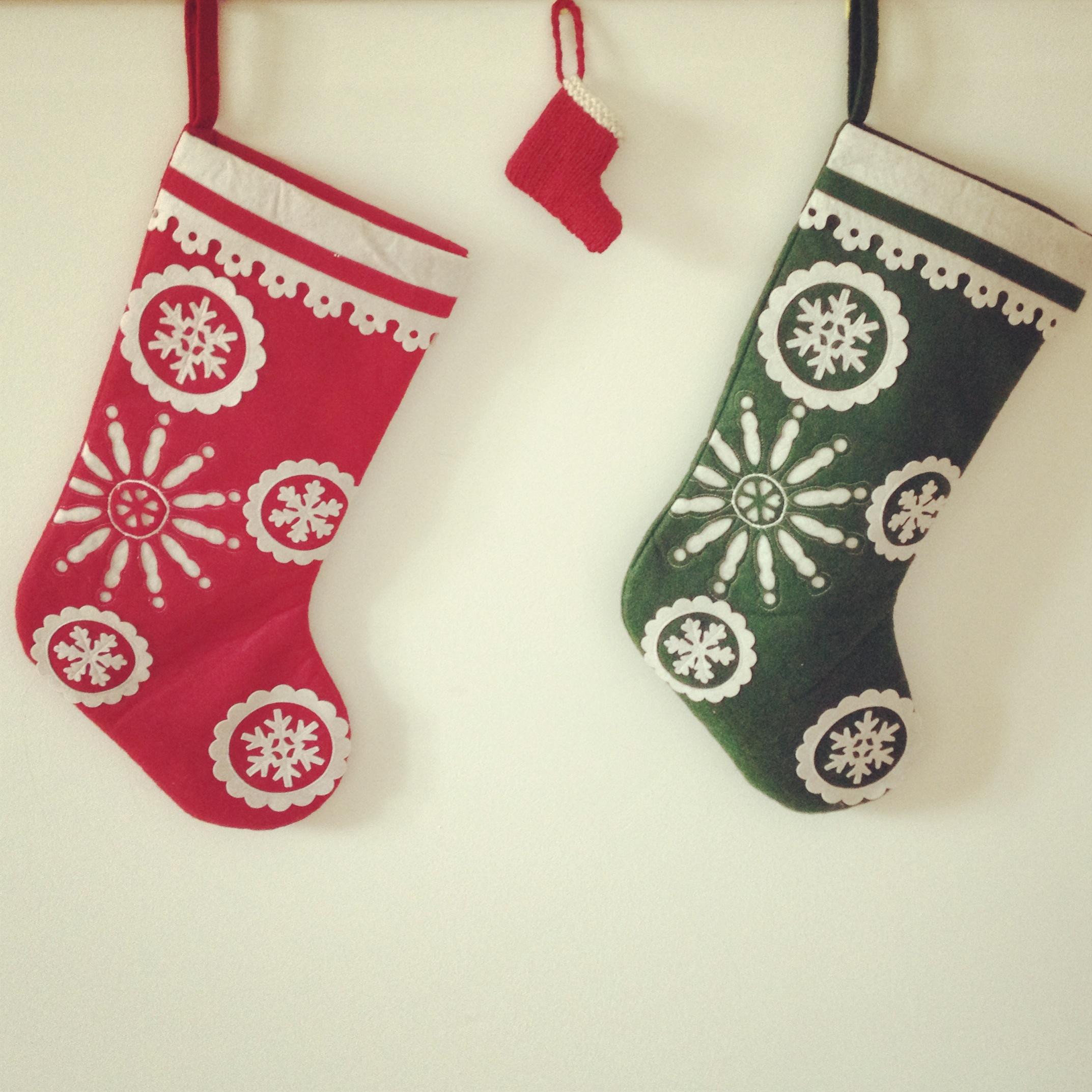 Mini-chaussette de Noël