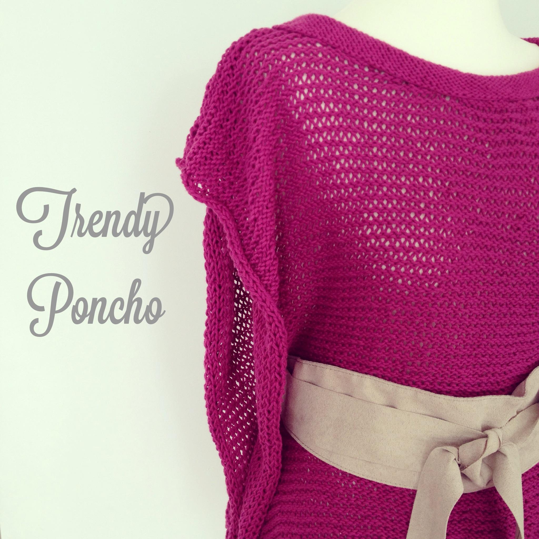 Trendy poncho