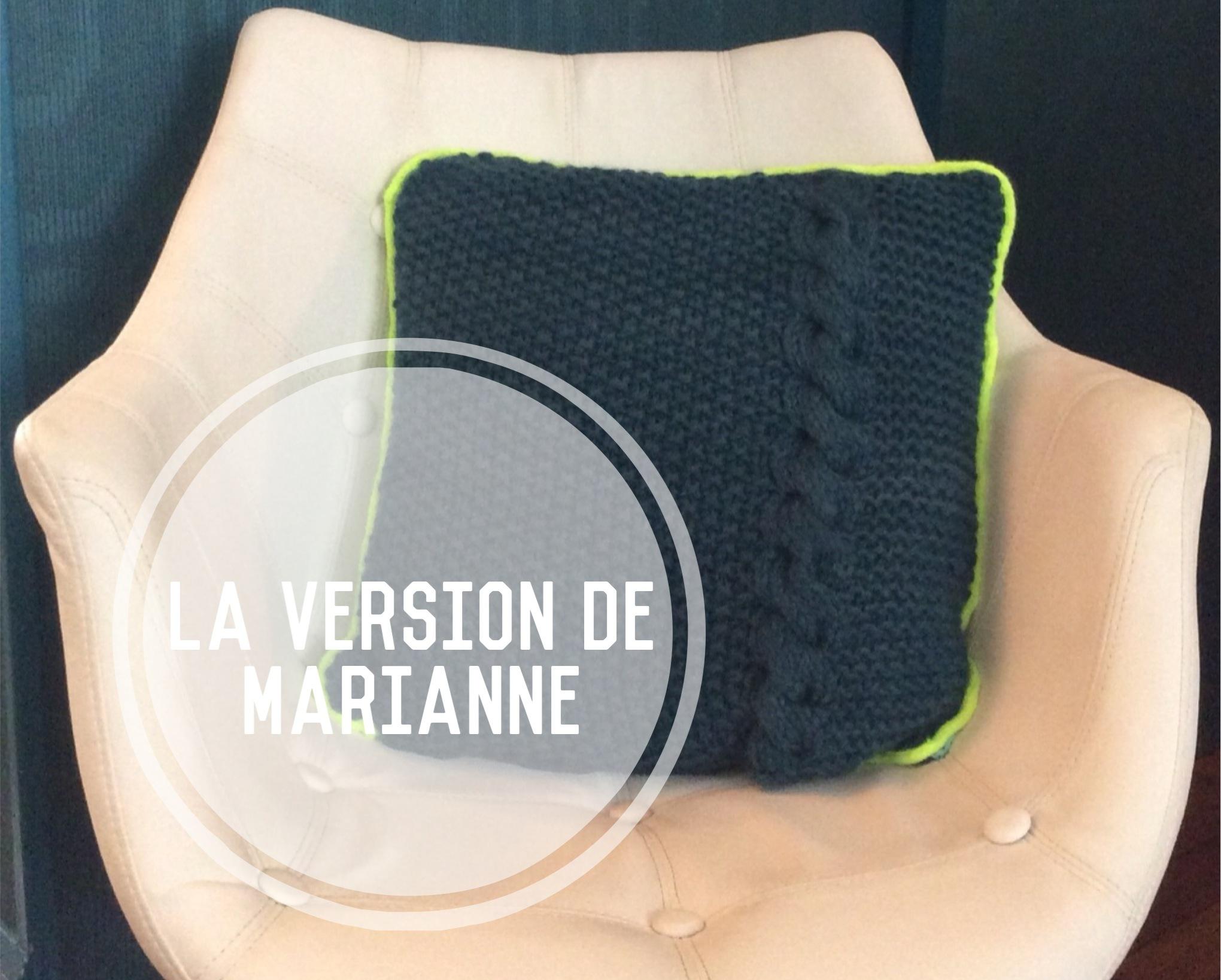 La version de Marianne du coussin bi-matière