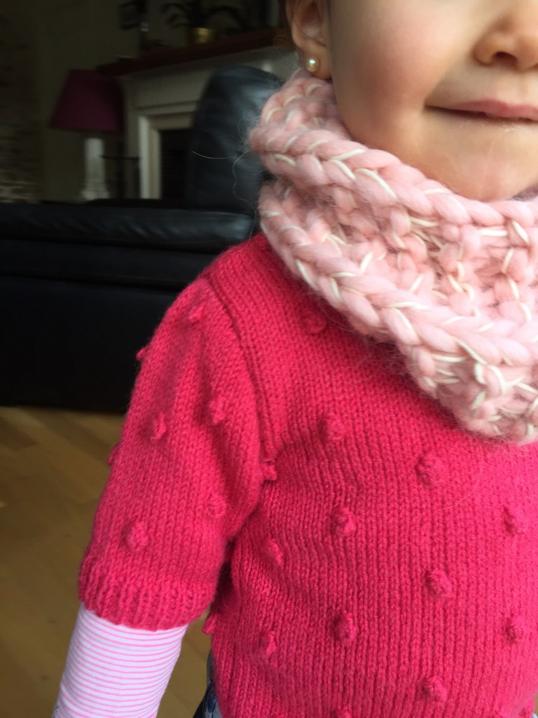 mini snood vanille fraise