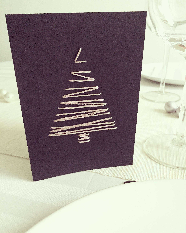 Mes petites décorations de table de Noël #3: les menus