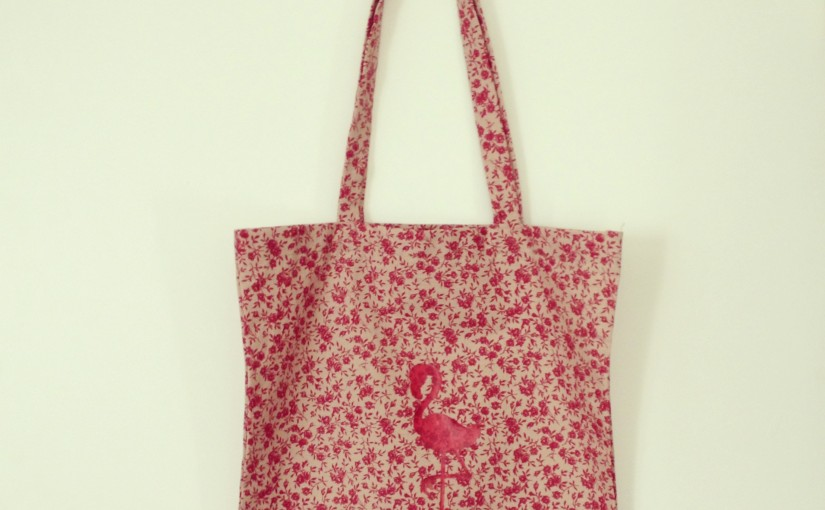 Le tote-bag flamant rose