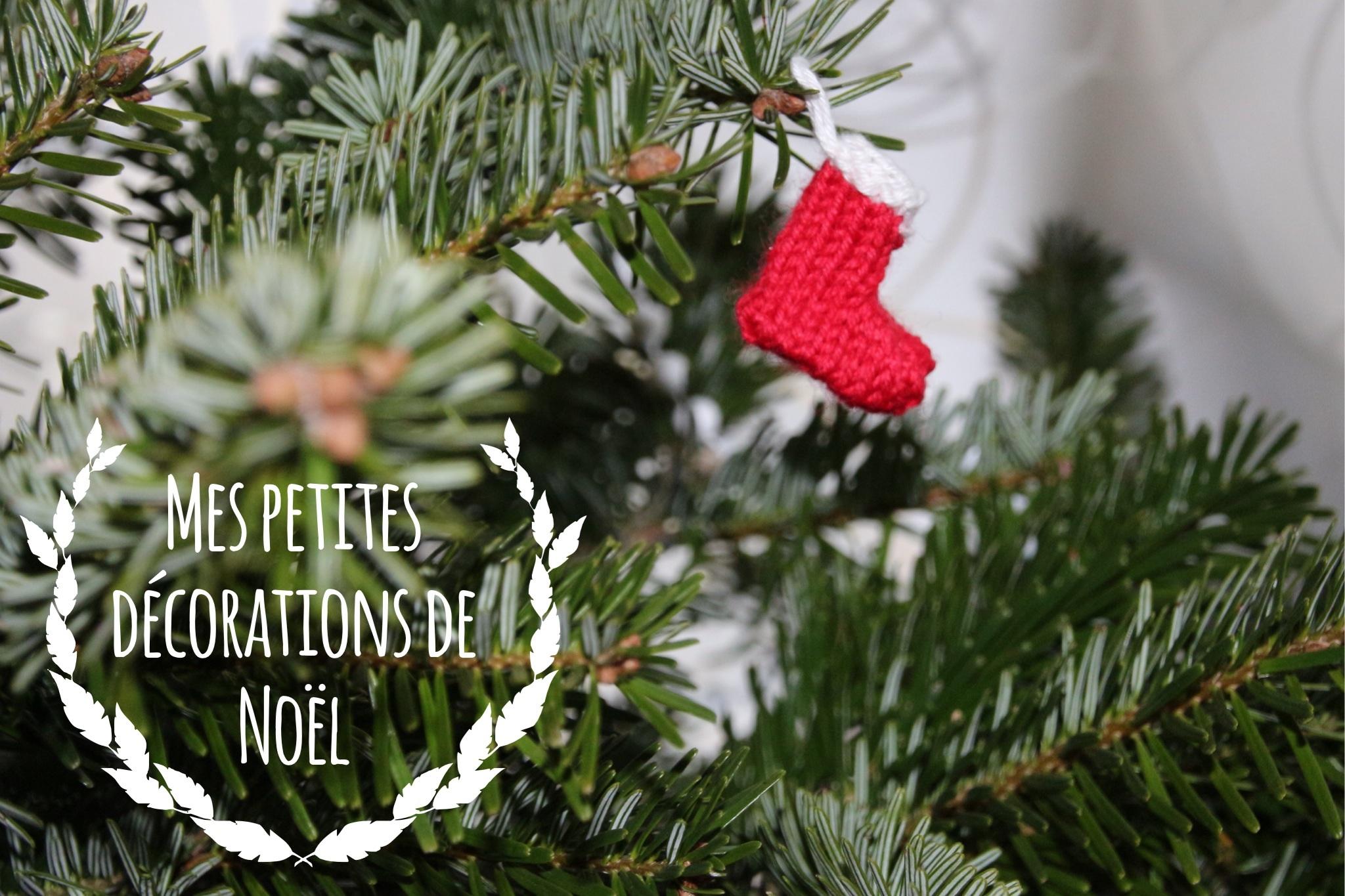 Mes petites décorations de Noël en laine