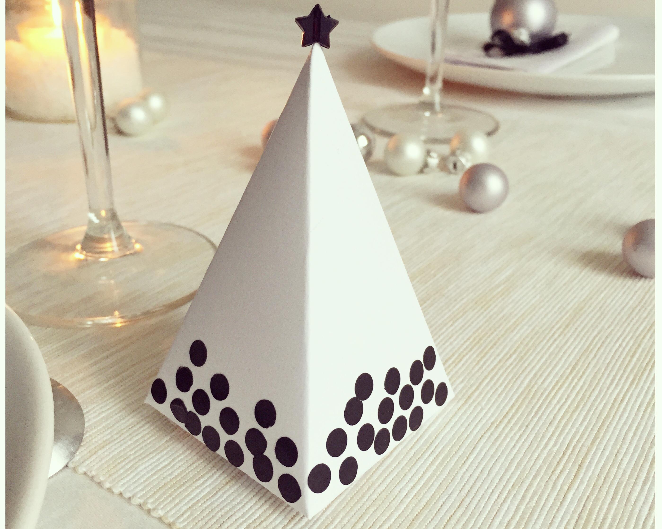Mes petites décorations de table de Noël #4: la boîte à chocolats/surprises