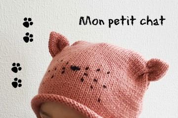 """Bonnet """"Mon Petit Chat"""" [TUTO]"""
